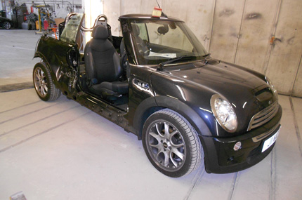 Mini Cooper S Convertible Repair Before